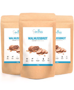 3er Set SlimBack Lower Carb Landbrot Walnussbrot